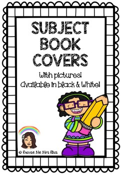 BOOK SUBJECT COVERS (BLACK & WHITE)