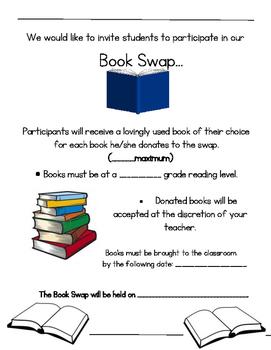 BOOK SWAP FLYER- CLASS OR SCHOOL SWAP