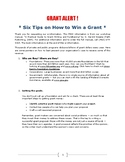BOOK - Six Tips on How to Win a Grant