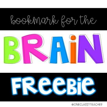 BOOKMARK FOR THE BRAIN {FREEBIE!}