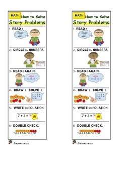 BOOKMARK - How to Solve MATH Story Problems