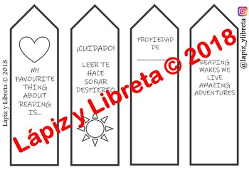 BOOKMARK TEMPLATES // MARCAPÁGINAS PARA COLOREAR
