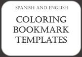 BOOKMARK TEMPLATES // MARCAPÁGINAS PARA COLOREAR