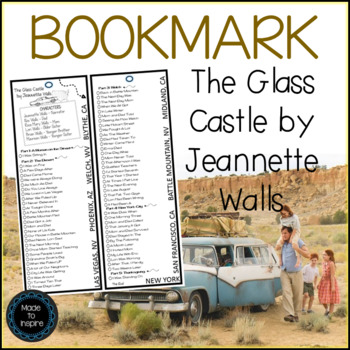 BOOKMARK for The Glass Castle by Jeannette Walls