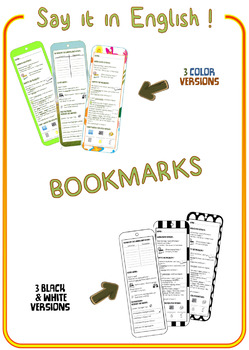 BOOKMARKS – Say it in English !  NO-PREP