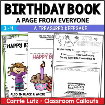 Class Books Birthday, Get Well Soon, Goodbye, Sympathy