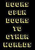 BOOKS OPEN DOORS CLASSROOM POSTER