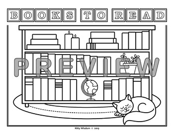 BOOKS TO READ Bookshelf Reading Log Graphic Organizer - FREE!