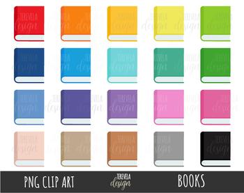 BOOKS clipart, SCHOOL clipart, rainbow books, study, read