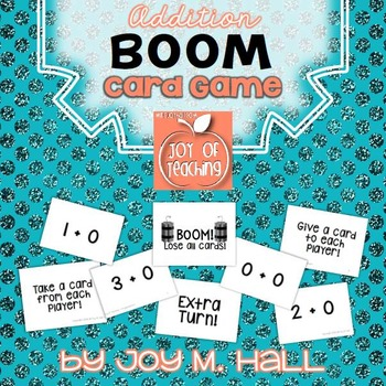 BOOM!  Addition Facts Card Game for Math Centers and Math Stations