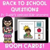 BOOM BACK TO SCHOOL QUESTIONS FOR SPECIAL ED & SPEECH THERAPY