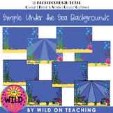 BOOM CARD Simple Backgrounds | Under the Sea Scenes