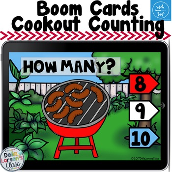 BOOM CARD Cookout Counting to 10