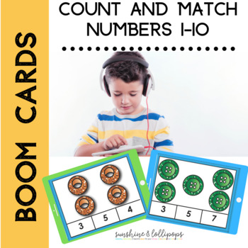 Distance Learning BOOM CARDS Counting 1-10