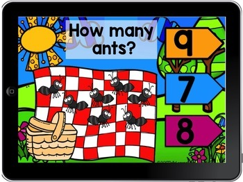 BOOM CARD Counting 1-10 Ants