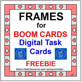 BOOM CARD FRAMES: FREEBIE (FOR PERSONAL OR COMMERCIAL) WITH INSTRUCTIONAL VIDEO