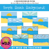 BOOM CARD Simple Backgrounds | Beach Scenes
