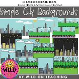 BOOM CARD Simple Backgrounds | City Landscape Scenes