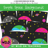BOOM CARD Simple Backgrounds | Space Scenes