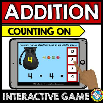 BOOM CARDS ADDITION GAMES BUNDLE (ADDITION WITHIN 10 DIGITAL TASK CARDS FOR MATH
