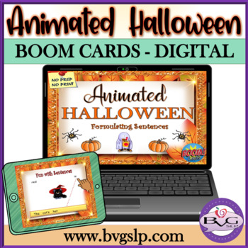 BOOM CARDS ANIMATED Halloween Language PLUS Four in a Row