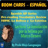 BOOM CARDS: AP Spanish - Belleza y Estética - La inmolació
