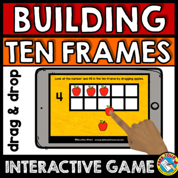 BOOM CARDS APPLE MATH FALL ACTIVITIES KINDERGARTEN (TEN FRAMES IPAD GAMES)