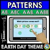 BOOM CARDS APRIL MATH CENTER (PATTERNING EARTH DAY ACTIVITY KINDERGARTEN)