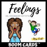 BOOM CARDS: ASL Feelings Vocabulary