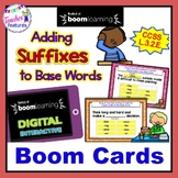 BOOM CARDS ELA | ADDING SUFFIXES | GRAMMAR | 3rd Grade