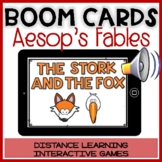 BOOM CARDS Aesop's Fable:THE FOX & THE STORK Digital Story Reading Comprehension