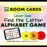BOOM CARDS™ ALPHABET GAME Find the Letter LOWER CASE