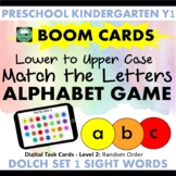 BOOM CARDS™ Alphabet Game MATCHING LOWER TO UPPER CASE LETTERS