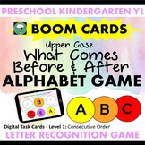 BOOM CARDS™ Alphabet Game What Letter Comes Before After C
