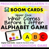 BOOM CARDS™ Alphabet Game What Letter Comes Before After U