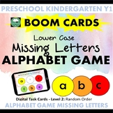 BOOM CARDS™ Alphabet Game What Letter Is Missing LOWER CASE