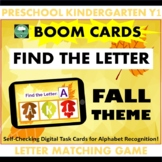BOOM CARDS™ Alphabet Matching Game Fall Autumn Thanksgivin