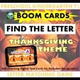 BOOM CARDS™ Alphabet Matching Game PUMPKINS Thanksgiving F
