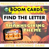 BOOM CARDS™ Alphabet Matching Game PUMPKINS Thanksgiving F