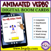 BOOM CARDS Animated Vocabulary VERBS and Sentence Formulation - Teletherapy