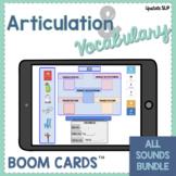 Articulation & Vocabulary MEGA Bundle | ALL SOUNDS BOOM CA