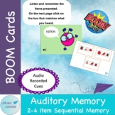BOOM CARDS Auditory Memory: 2-4 item Sequential Memory