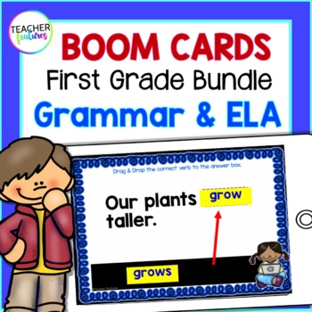 BOOM CARDS 1st Grade READING & ELA Digital Task Cards