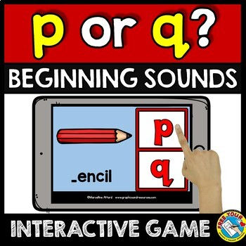 BOOM CARDS (INITIAL SOUNDS KINDERGARTEN ACTIVITY) LETTER REVERSAL GAMES BUNDLE