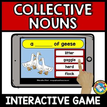 BOOM CARDS BUNDLE (COLLECTIVE NOUNS FOR GRADE 2) GRAMMAR GAMES SECOND GRADE