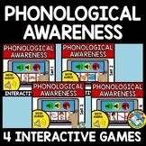 PHONEMIC AWARENESS ACTIVITY BOOM CARDS BLENDING CVC WORD SOUNDS ASSESSMENT GAMES