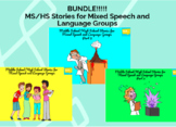 BOOM CARDS BUNDLE MS/HS Stories for Mixed Speech and Language Groups