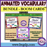 BOOM CARDS BUNDLE Pronouns Verbs Prepositions ANIMATED VOC