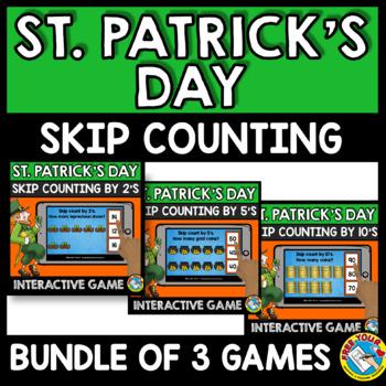 BOOM CARDS BUNDLES (MARCH ACTIVITY KINDERGARTEN) ST. PATRICK'S DAY MATH GAMES