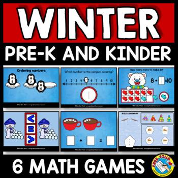 BOOM CARDS BUNDLE (FEBRUARY ACTIVITY KINDERGARTEN WINTER MATH DIGITAL TASK CARDS